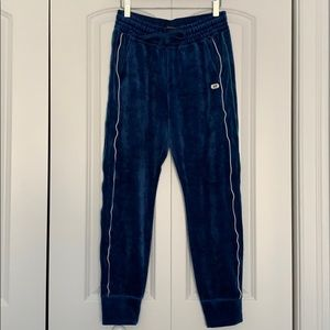 ABERCROMBIE AND FITCH BLUE VELVET JOGGER